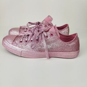 Converse Pink Glitter chuck Taylor sneakers